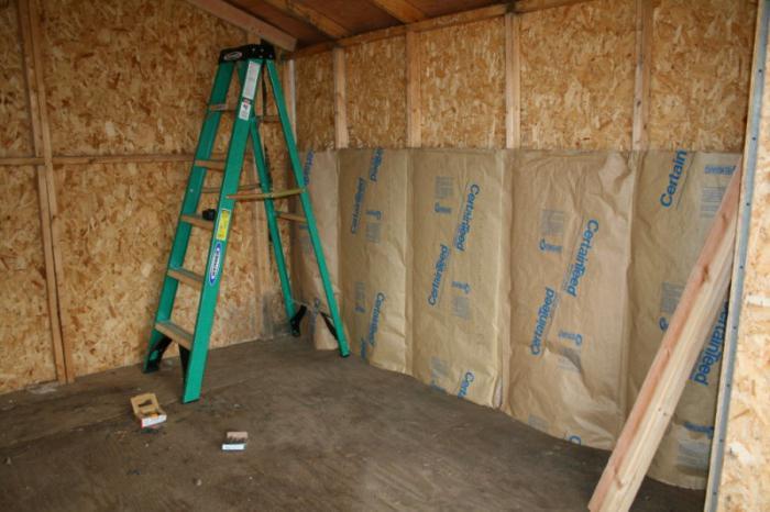 finishing a wooden house inside plasterboard