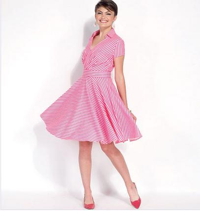 Retro dress with a fluffy skirt