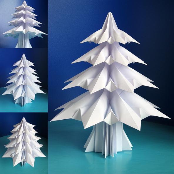 Новогодние поделки из бумажных модулей