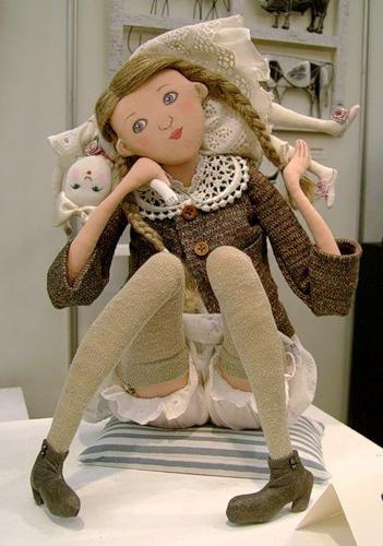 Шарнирная текстильная кукла