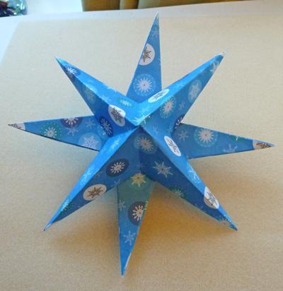 Восьмиконечная звезда как сделать из бумаги