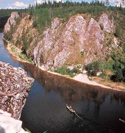 height of the source of the river Pechora