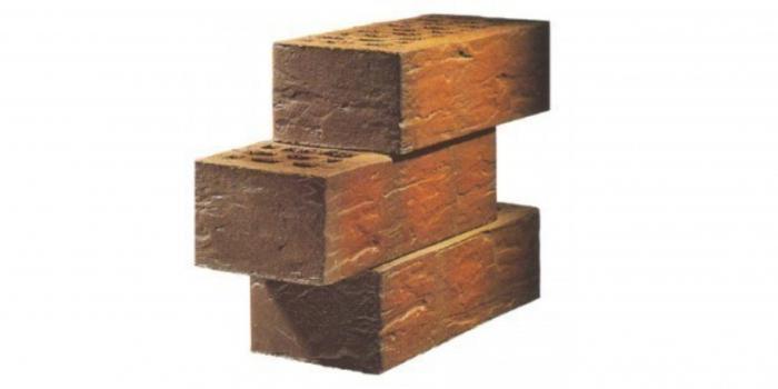 Facing brick size