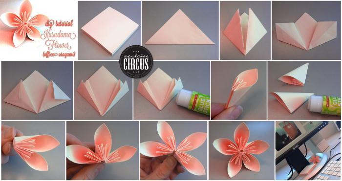 Как сделать легкий цветок из бумаги своими