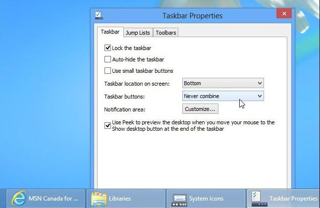 how to customize the taskbar