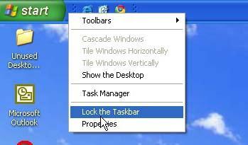 place taskbar on top