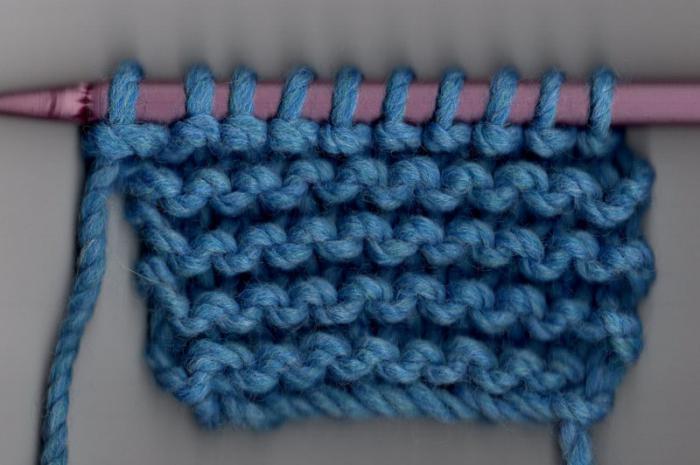 платочная вязка спицами схема