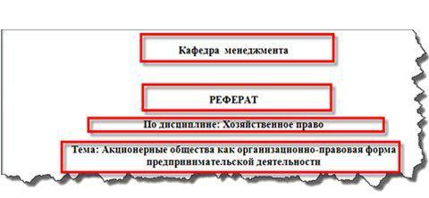 Правильно оформление реферата по ГОСТу ru  правила оформления реферата по госту 2