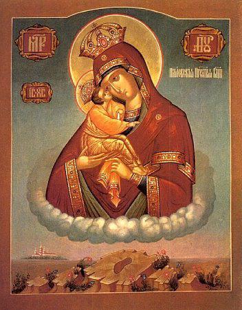 Икона Почаевской Божьей Матери, фото