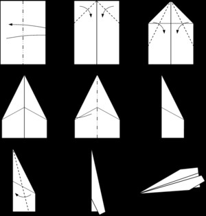 origami scheme airplanes