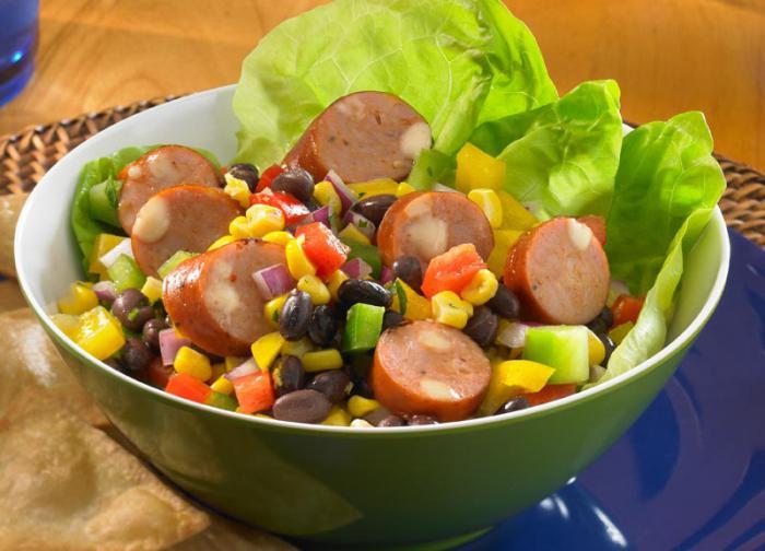 легкие рецепты сытные салаты рецепты