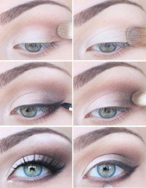 Как правильно наложить макияж на глаза пошагово в 98