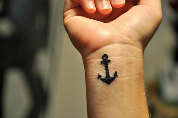 Татуировки якорь фото на руке