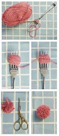 как сделать коврик из помпонов своими руками