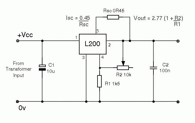 LM317 стабилизатор тока