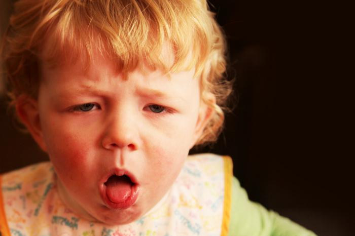Dry cough mixture for children, instruction