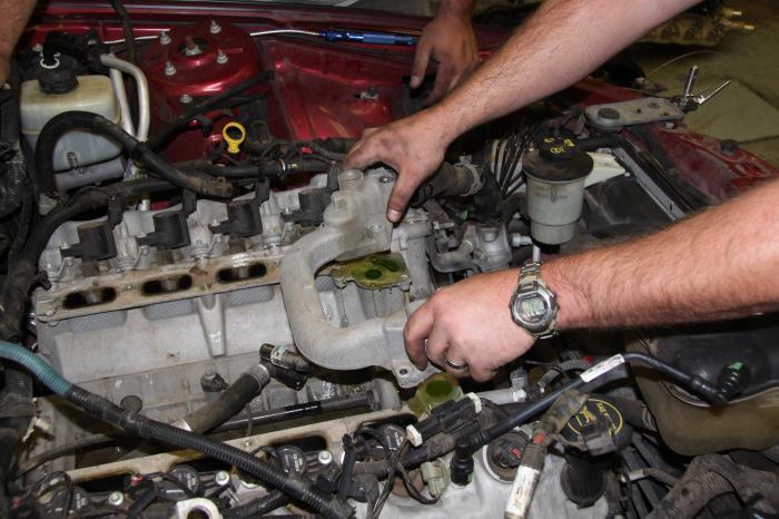 engine after hydraulic shock