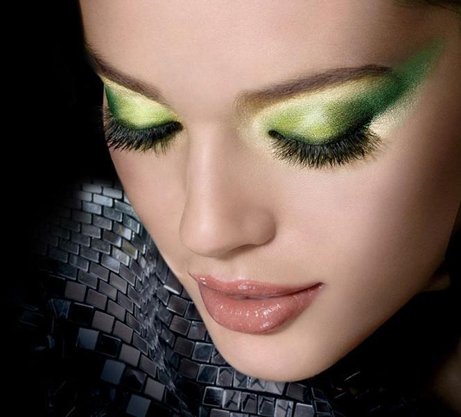 какие тени для зеленых глаз блондинок