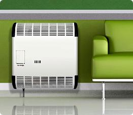 autonomous gas heating of a private house