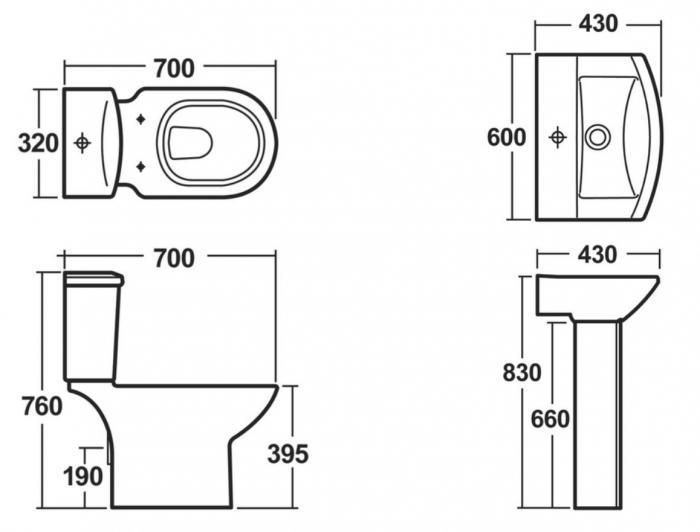 Standard width of bathtub