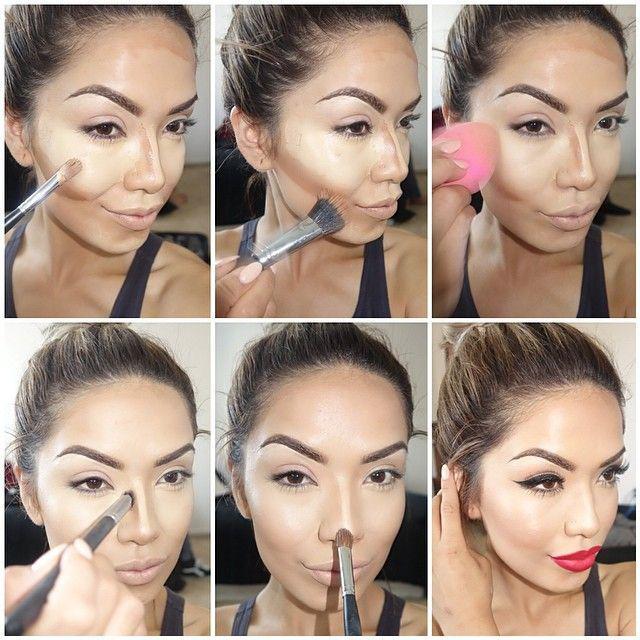 каждого макияж лица пошаговое фото в домашних условиях размытия обязательно достигать