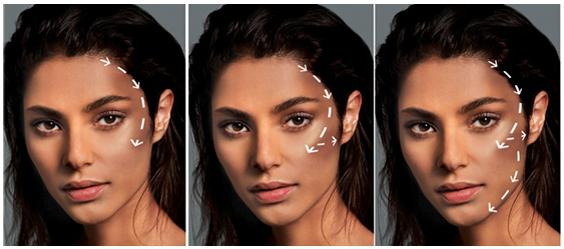 скульптурирование лица до и после