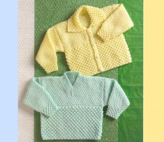 кофточка для новорожденного на круговых спицах
