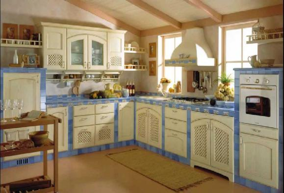 kitchen design in the style of classicism