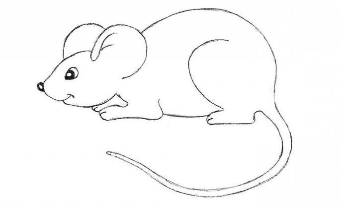Мышь рисунок с карандаш