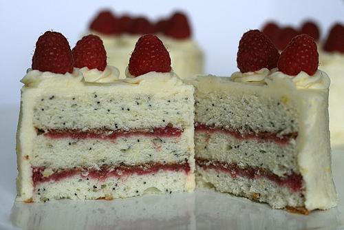 sour cream cake with poppy seeds