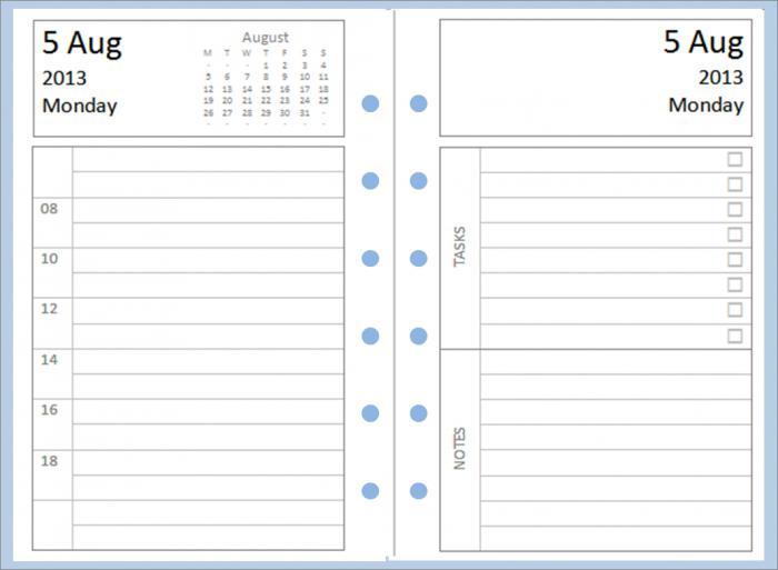 как сделать ежедневник