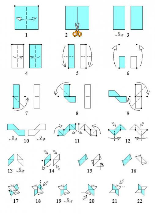 данной схеме оригами,