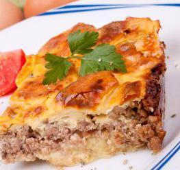 Блюда из картофеля мяса и сыра