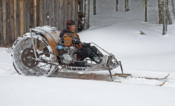 do-it-yourself snowmobile