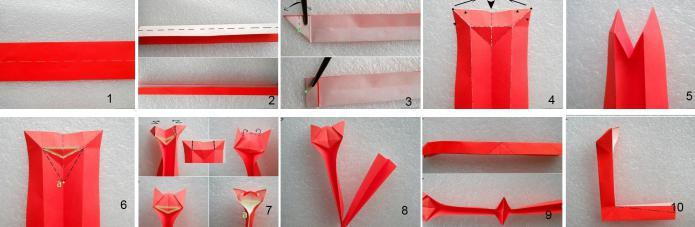 инструкция как сделать кошку из бумаге