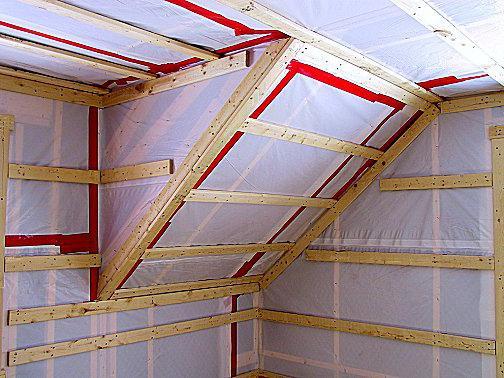 proper ceiling vapor barrier