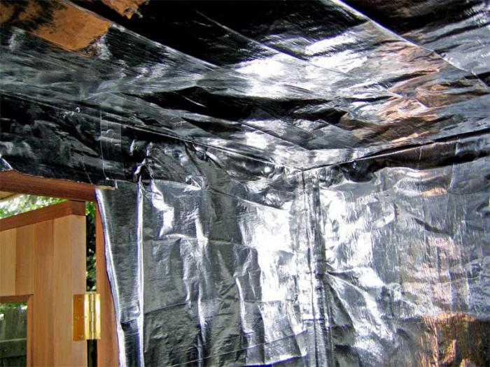 vapor barrier wooden ceiling