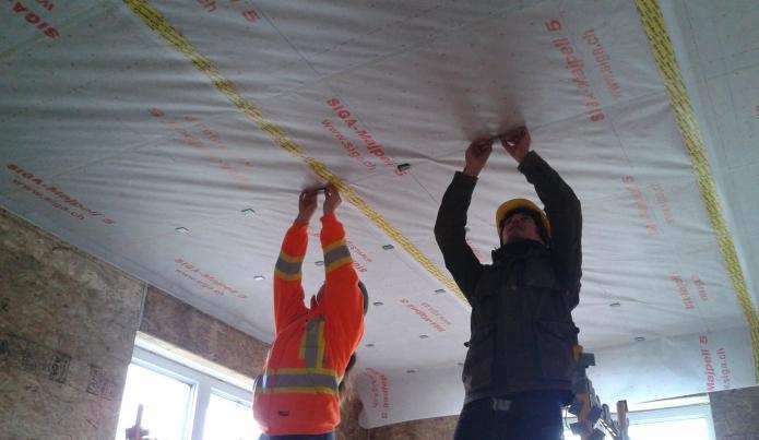 ceiling vapor barrier