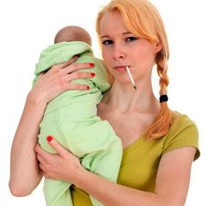 How does smoking during breastfeeding