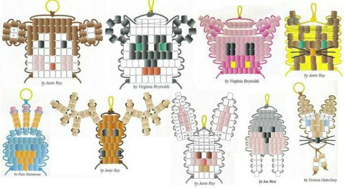 схема животных из бисера