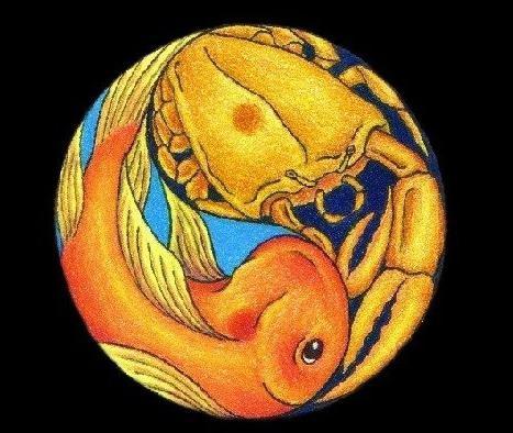 Рыбы-мужчина, Рак-женщина: совместимость в любви и браке