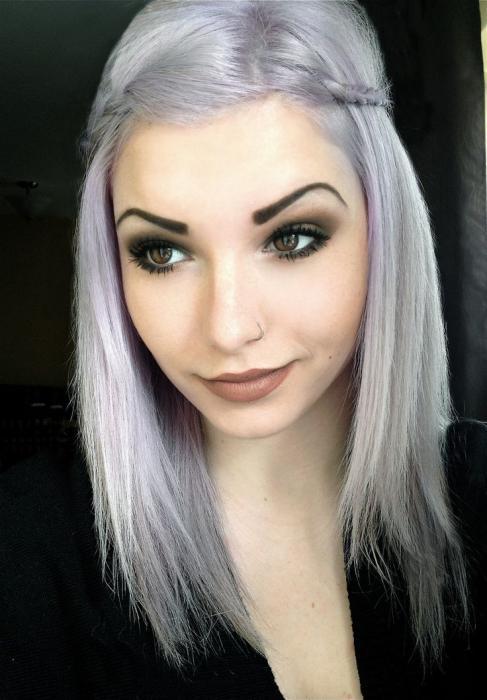 Краска для эффекта седых волос