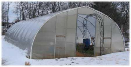 winter greenhouse project