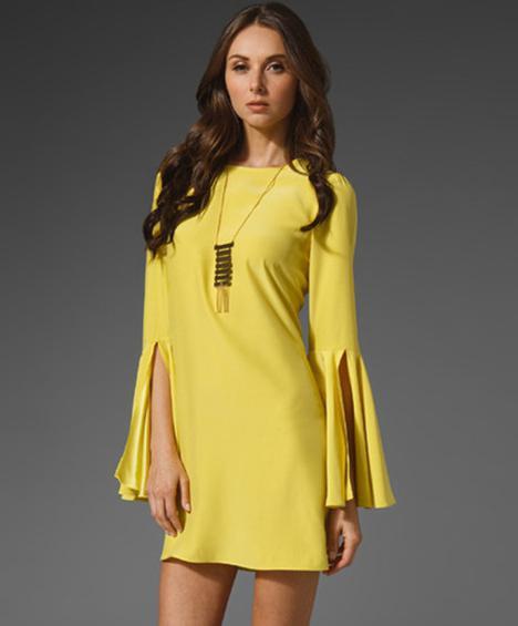 Черно желтое платье
