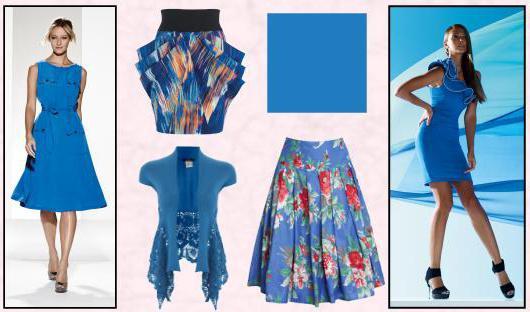 Васильковый цвет фото в одежде