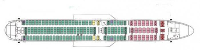боинг 767 300 схема салона