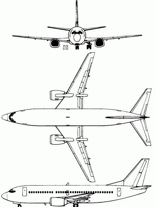 боинг 767 300 схема