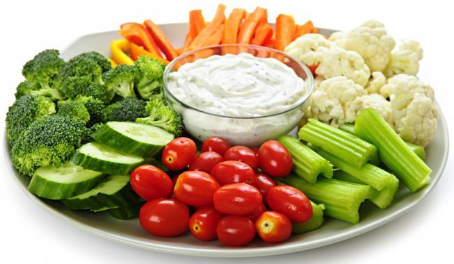 красивая овощная нарезка