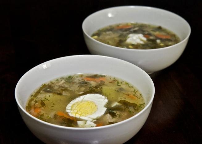 как приготовить щавель суп на косточке рецепт в