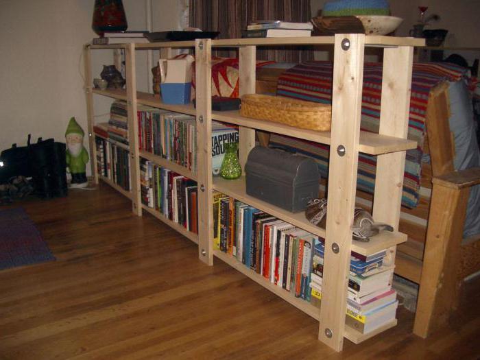 как сделать стеллаж для книг из дерева своими руками